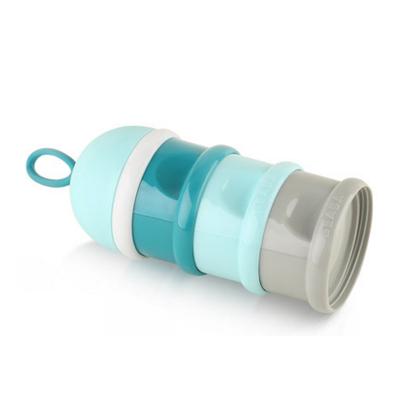 法国BEABA奶粉盒 外出便携 大容量三层奶粉格 辅食零食盒
