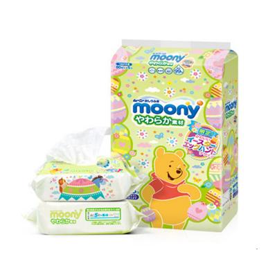 日本原装花王Merries婴幼儿湿纸巾宝宝手口湿巾54抽X2